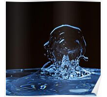 Splashing Water Droplet shaping human profile Poster