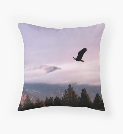 On Wings of Eagles Throw Pillow