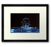 Splashing Water Droplet shaping human profile Framed Print