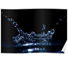 Splashing Water Droplet Poster