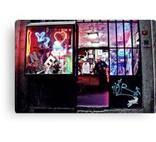 Neon Workshop Canvas Print