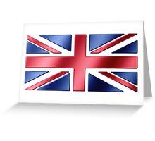 British Flag - UK - Metallic Greeting Card