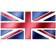 British Flag - UK - Metallic Photographic Print