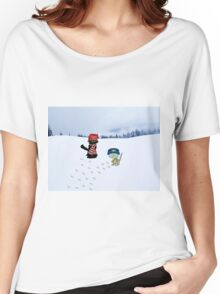 Two Cats With Winter Wear Women's Relaxed Fit T-Shirt