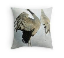 The Dance of the Cranes - 2 of 2 Throw Pillow