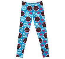 I Puggin' Love You Black Pug Leggings