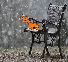 Cat Catches Snow Flakes O His Tong by JohnsCatzz