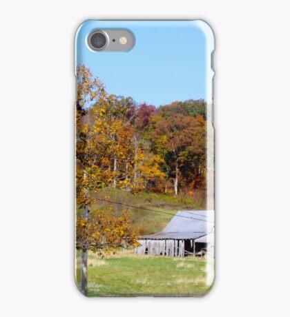 THE BARN IN AUTUMN iPhone Case/Skin