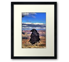 Canyon  Raven Framed Print