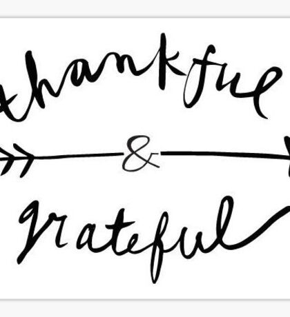 Thankful & Grateful  Sticker