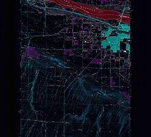 USGS Topo Map Washington State WA Kennewick 241756 1964 24000 Inverted by wetdryvac