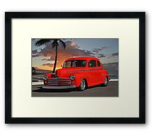 1947 Ford Super Deluxe Coupe 'Sunset Beach' Framed Print