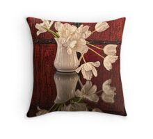 Springy Tulips Throw Pillow