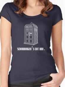 Schrodinger's Tardis Women's Fitted Scoop T-Shirt