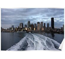 Seattle Cityscape at Dusk Poster