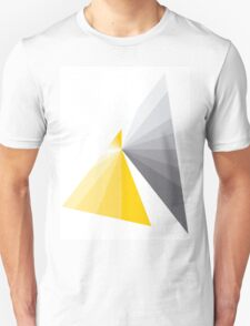 grey and yellow abstract design T-Shirt