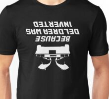 Because Delorean Was Inverted Unisex T-Shirt