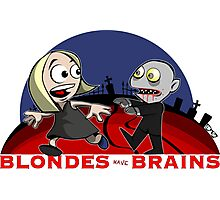 Blondes Have Brains Photographic Print