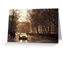 Rain - Greenwich Village - New York City Greeting Card
