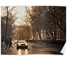 Rain - Greenwich Village - New York City Poster