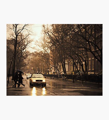 Rain - Greenwich Village - New York City Photographic Print