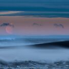 Moonset over Icelandic Shores by salim madjd