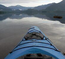 Kayak in Hobart Bay Alaska by tperlste