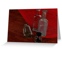 FOUR OLD BOTTLES........! Greeting Card