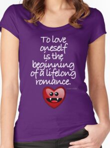TO LOVE ONESELF Women's Fitted Scoop T-Shirt