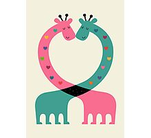 Love With Heart Photographic Print