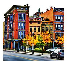 Row of Buildings - Downtown Cincinnati Photographic Print