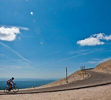 Climbing Mont Ventoux by Dan Lauf