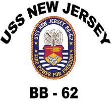 USS New Jersey (BB-62) Crest by Spacestuffplus