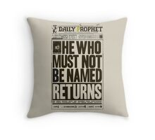 You Know Who. Throw Pillow