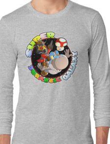 Super Jurassic Galaxy Gaming Adventure Mashup Long Sleeve T-Shirt