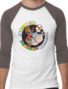 Super Jurassic Galaxy Gaming Adventure Mashup Men's Baseball ¾ T-Shirt