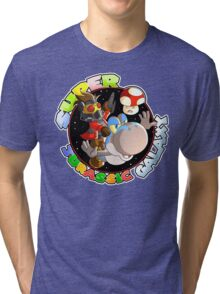 Super Jurassic Galaxy Gaming Adventure Mashup Tri-blend T-Shirt
