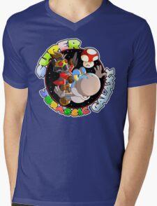 Super Jurassic Galaxy Gaming Adventure Mashup Mens V-Neck T-Shirt