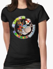 Super Jurassic Galaxy Gaming Adventure Mashup Womens Fitted T-Shirt