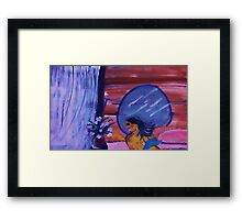 Off to bed, watercolor Framed Print