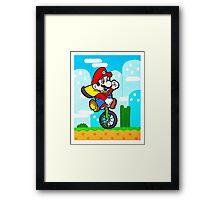 Mario Uni Framed Print