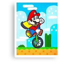 Mario Uni Canvas Print