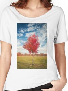 Single Lone Autumn Tree Women's Relaxed Fit T-Shirt