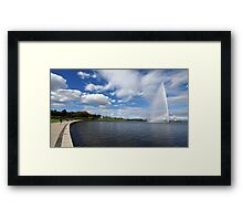 Captain Cook Fountain, Lake Burley Griffin Framed Print
