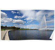 Captain Cook Fountain, Lake Burley Griffin Poster