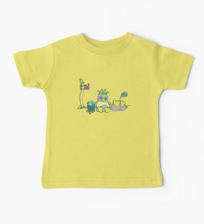 Penguin Capture the flag- defend with snowballs- snack with boredom Baby Tee