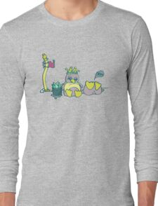 Penguin Capture the flag- defend with snowballs- snack with boredom Long Sleeve T-Shirt