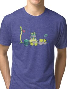 Penguin Capture the flag- defend with snowballs- snack with boredom Tri-blend T-Shirt