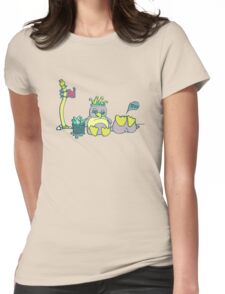Penguin Capture the flag- defend with snowballs- snack with boredom Womens Fitted T-Shirt