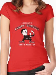 Fight Tories Women's Fitted Scoop T-Shirt